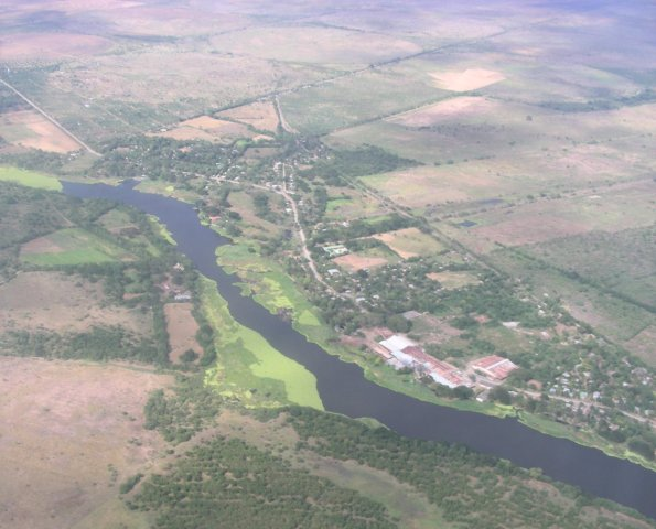 Farmland and river on way East
