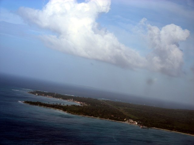 Approaching Big Corn Island in the distance