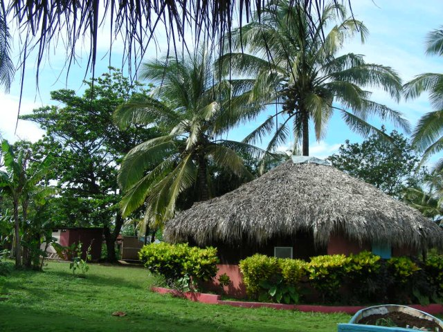 View of a typical cabana
